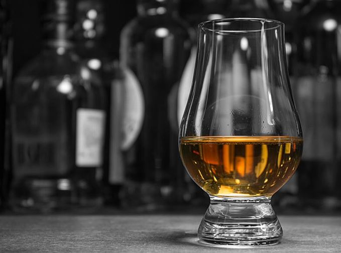 Scotch whisky in a glass