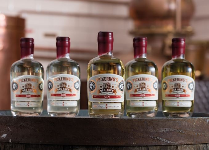 Pickering's oak-aged gin range