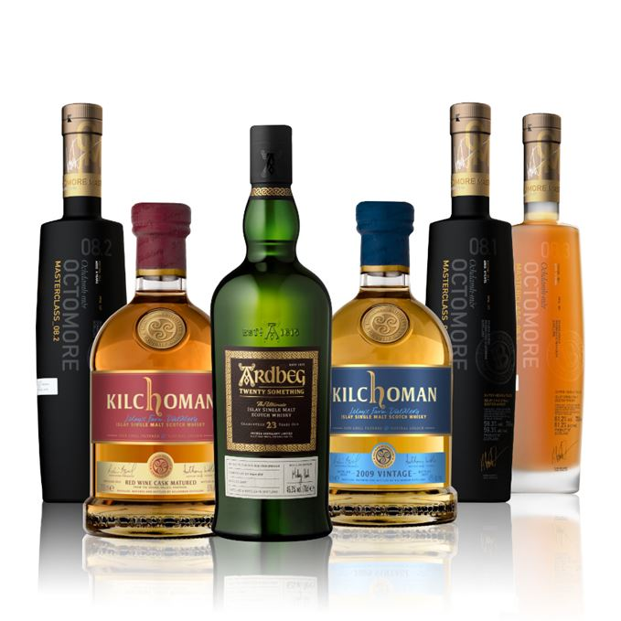 Whisky reviews: Ardbeg Twenty Something, Kilchoman Red Wine Matured, Kilchoman 2009, Octomore 08.1, 08.2, 08.3
