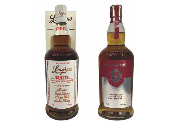Springbank 25-year-old and Longrow 11-year-old