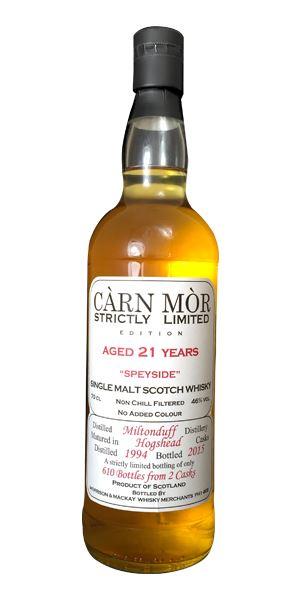 Miltonduff 1994 (Morrison & Mackay, Càrn Mòr)
