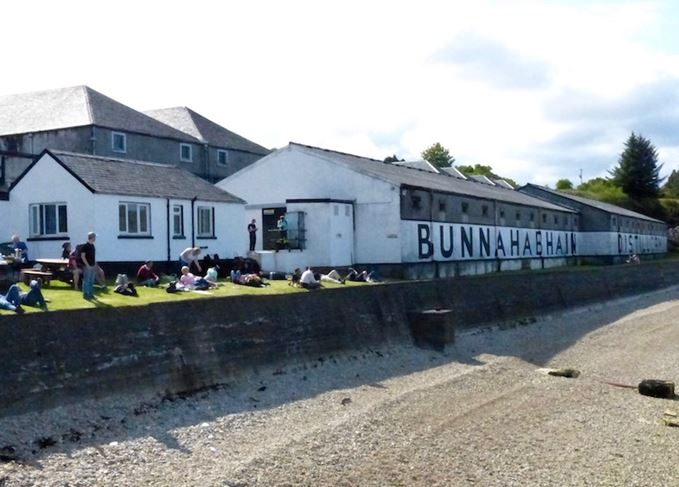 Bunnahabhain distillery and beach