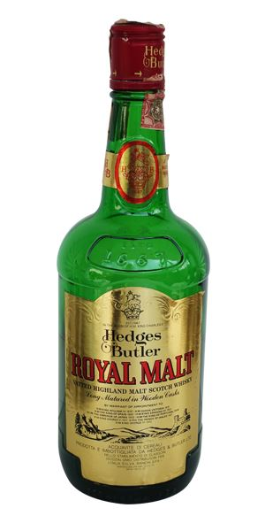 Hedges & Butler Royal Malt, Bottled 1980s