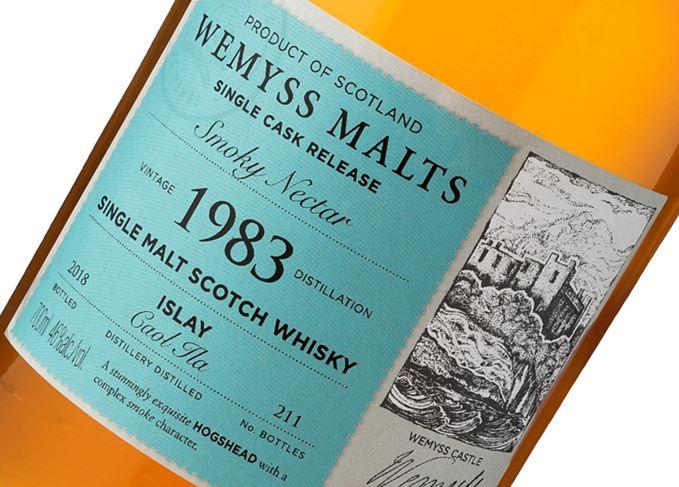 Smoky Nectar 1983 Caol Ila Wemyss Malts Cask Club