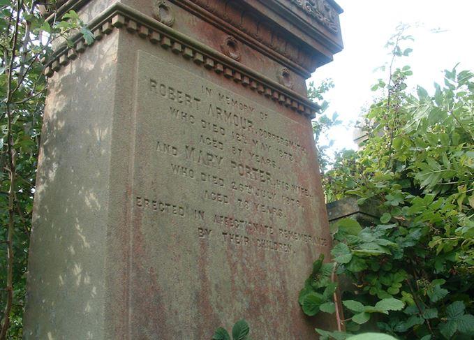 Robert Armour gravestone