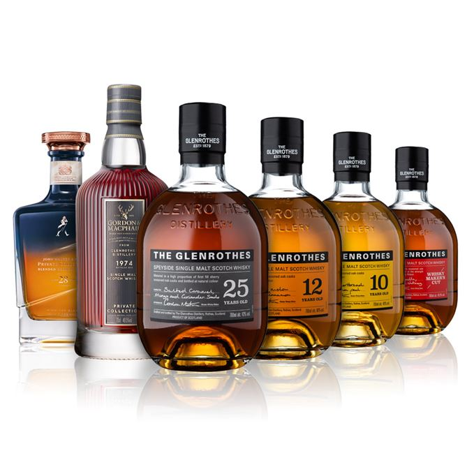 Glenrothes Soleo Collection 25, 10, 12, Whisky Maker's Cut, Gordon & MacPhail Private Collection 1974 Glenrothes and John Walker & Sons Midnight Blend