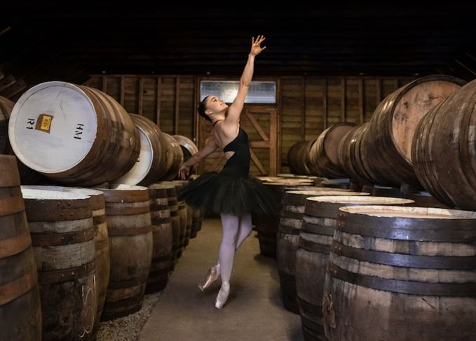 Ballet dancer in Highland Park warehouse