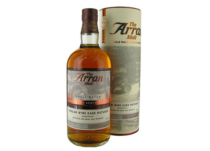 Arran Red Wine Cask Matured bottled for Nauticus in Leith