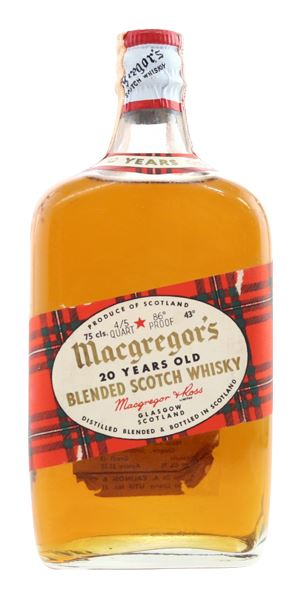 Macgregor's 20 Years Old, Bottled 1960s