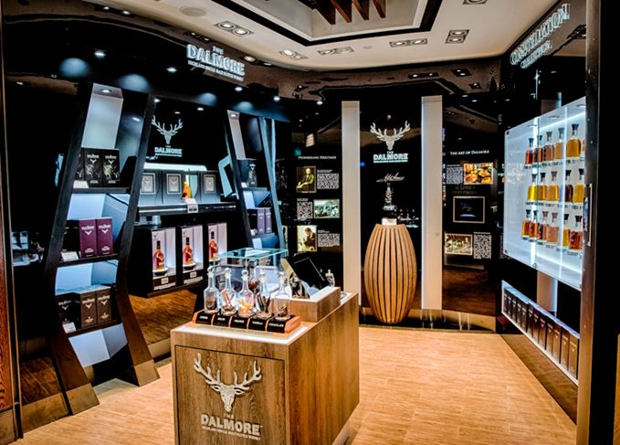 The Dalmore boutique, containing an entire Constellation Collection
