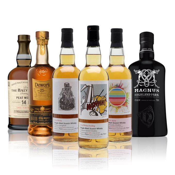 Whisky reviews Highland Park Magnus Balvenie Peat Week, Dewar's 25, the whisky exchange art of whisky