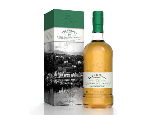Tobermory 12 year old bottle and packaging