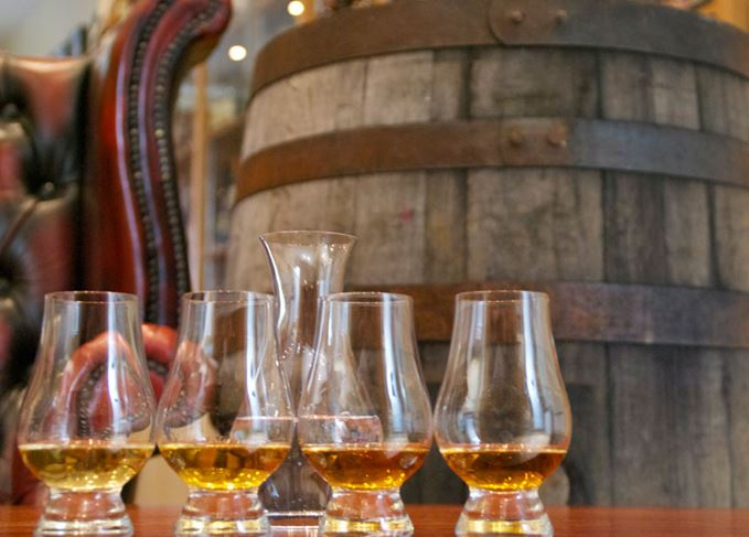 Scotch whiskies from different regions of Scotland