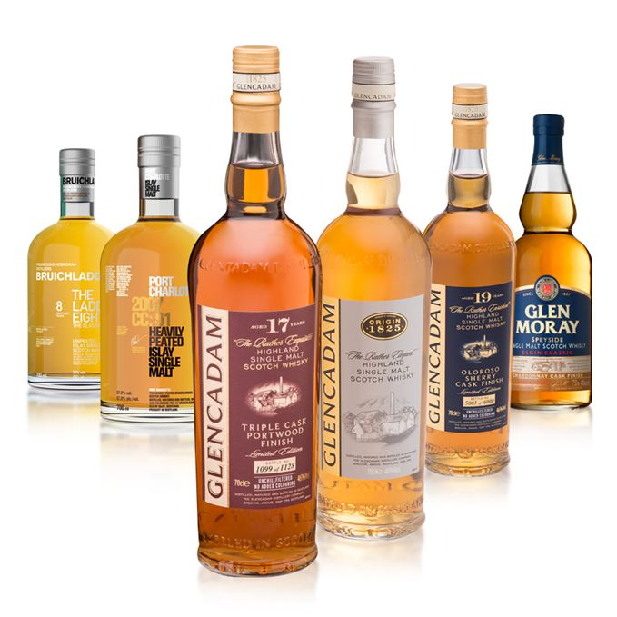 It's springtime in new whisky corner as two Bruichladdichs, three Glencadams and a Glen Moray arise.