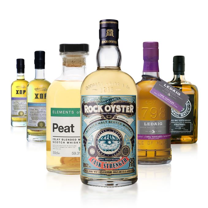New whiskies include Rock Oyster Cask Strength, Elements of Islay Peat, Ledaig 1996, Strathmill by Cadenhead and two Douglas Laings/