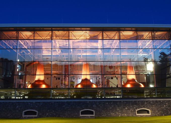 Midleton distillery's three pot stills