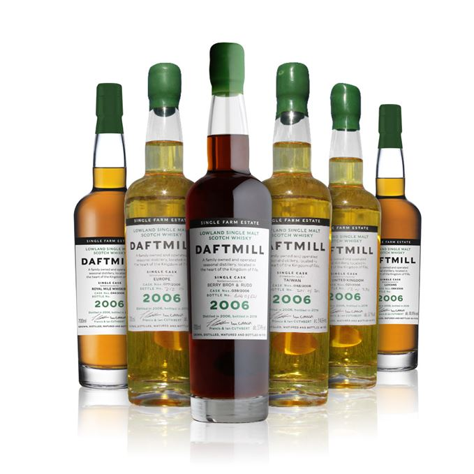 Daftmill 2006 Single Cask #21 (UK Exclusive); Daftmill 2006 Single Cask #39 (Berry Bros. & Rudd Exclusive); Daftmill 2006 Single Cask #44 (Royal Mile Whiskies Exclusive); Daftmill 2006 Single Cask #48 (Taiwan Exclusive); Daftmill 2006 Single Cask #77 (Europe Exclusive); Daftmill 2006 Single Cask #89 (Luvians Exclusive)