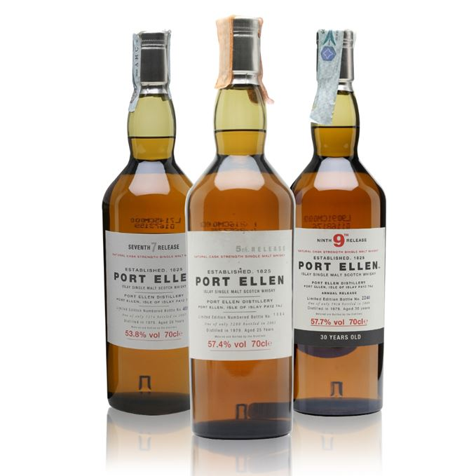 Rare Batch 27: Port Ellen 5th Release, 7th Release and 9th Release