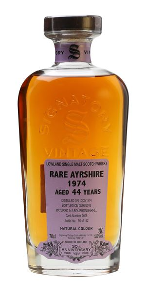 Rare Ayrshire 44 Years Old, Distilled 1974, Signatory 30th Anniversary (Signatory)