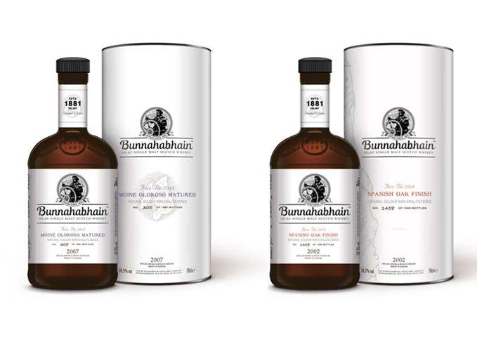 Bunnahabhain Fèis Ìle 2018 whiskies