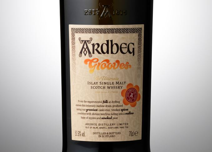 Ardbeg Grooves bottle close-up