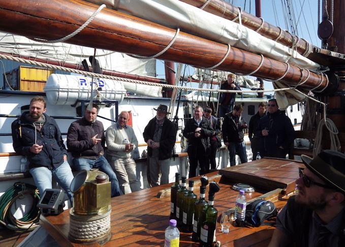 SMWS tasting in Port Ellen harbour