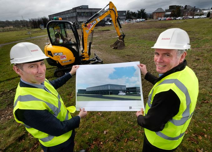 Ewan Andrew and Alan Kennedy of Diageo at the site of the new technical centre in Menstrie