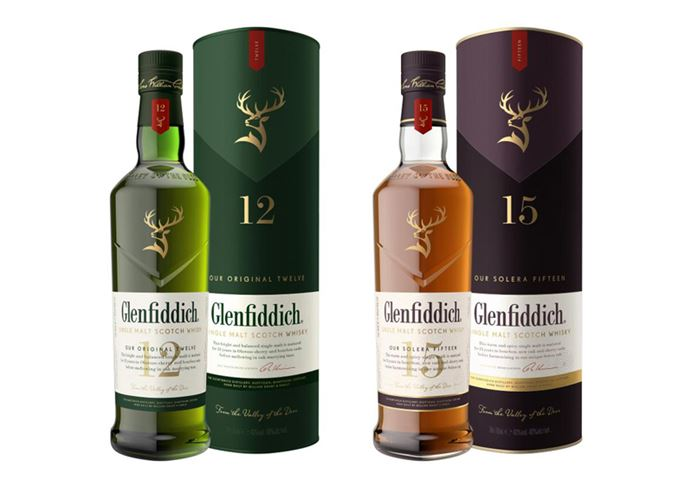 Glenfiddich 12-year-old Our Original Twelve and 15-year-old Our Solera Fifteen redesign