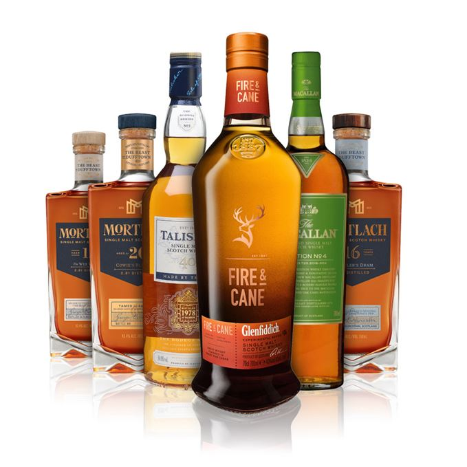 New whisky reviews: Glenfiddich Fire & Cane, Talisker 40, Mortlach 12, 16 and 20, and Macallan Edition No 4