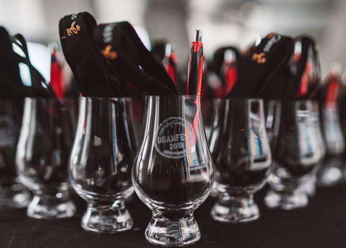 DramFest 2018 tasting glasses