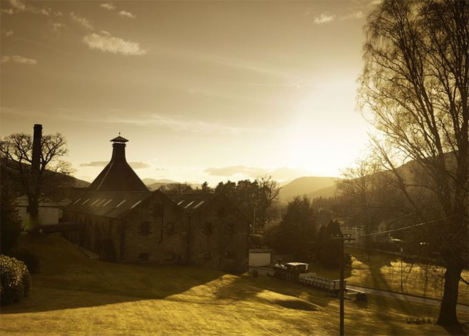 Aberfeldy distillery, major tourist attraction