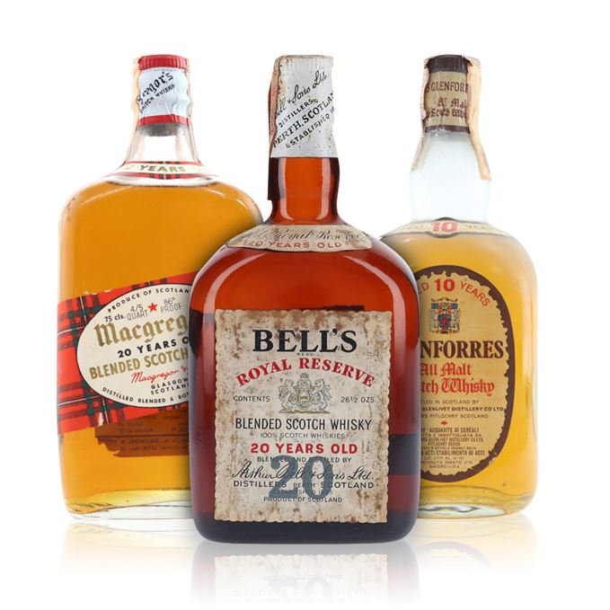 Bell's Royal Reserve 20 Years Old, Glenforres 10 Years Old 'All Malt', Macgregor's 20 Years Old