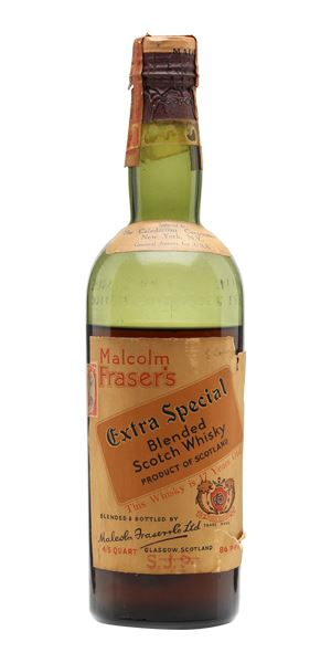 Malcolm Fraser's Extra Special 17 Years Old, Bottled 1940s