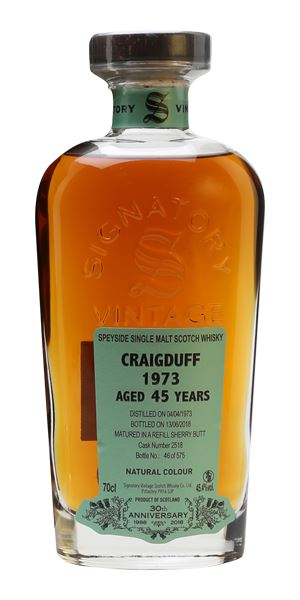 Craigduff 45 Years Old, Distilled 1973, Signatory 30th Anniversary (Signatory)