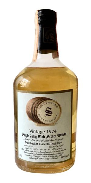 Caol Ila 21 Years Old, 1974, Cask #12605 (Signatory)