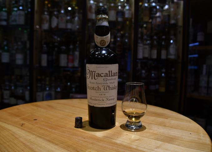 Fake Macallan bottle and glass