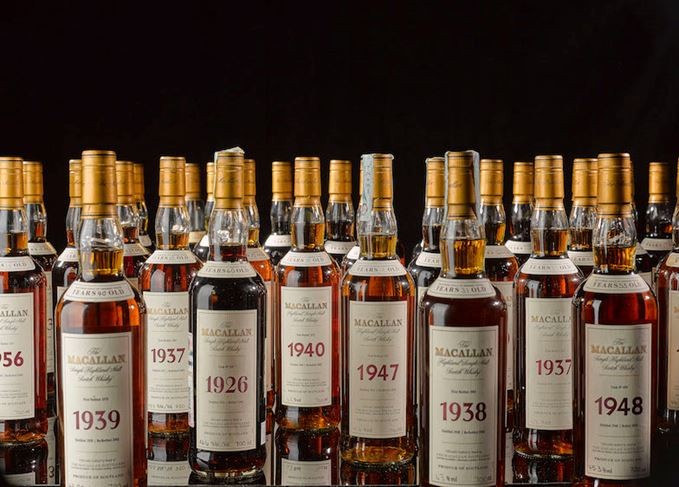 Macallan Fine and Rare bottles