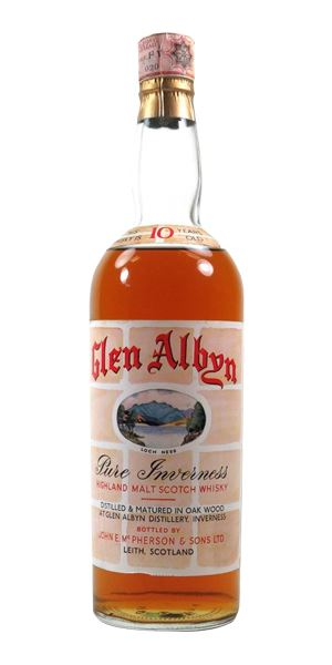 Glen Albyn 10 Years Old, Bottled c.1960