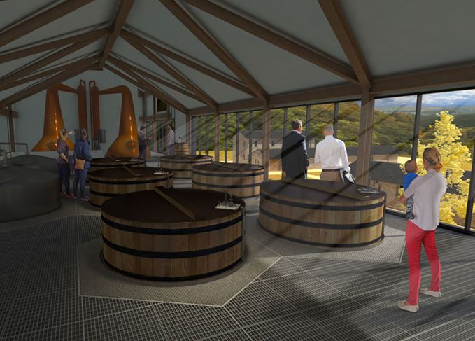 An artist's impression of Ardgowan distillery