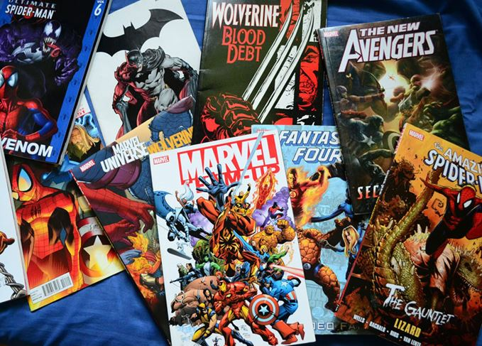 A selection of comic books