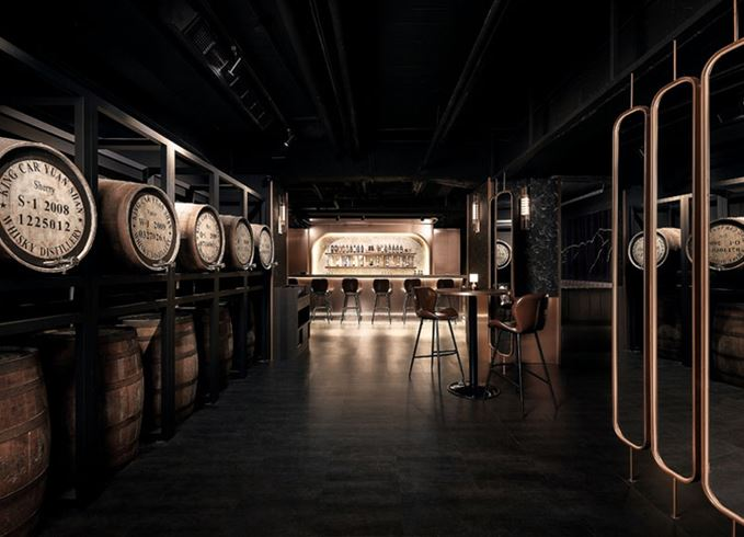 Kavalan whisky bar in Taipei