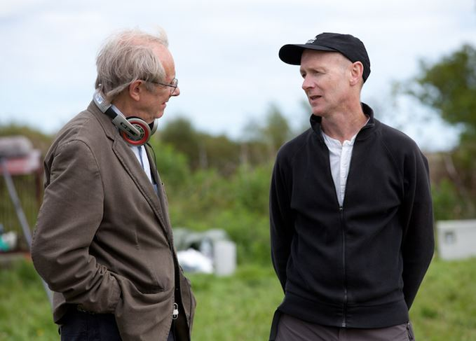 Ken Loach and Paul Laverty on the set of The Angels' Share