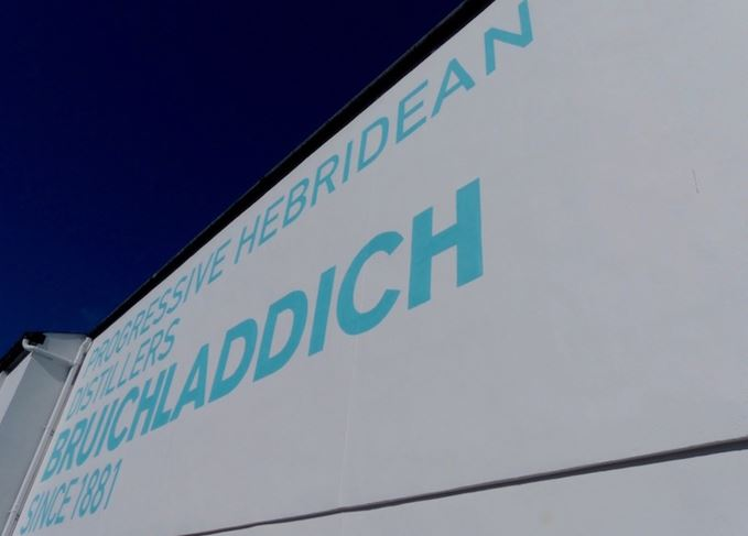 Bruichladdich distillery sign