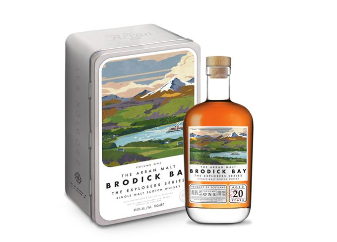 Brodick bay whisky from Isle of Arran Distillers' Explorers series