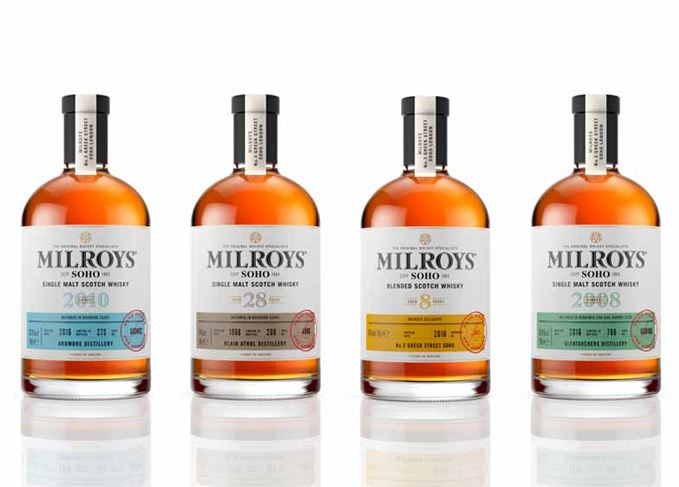 Milroy's new single cask whiskies