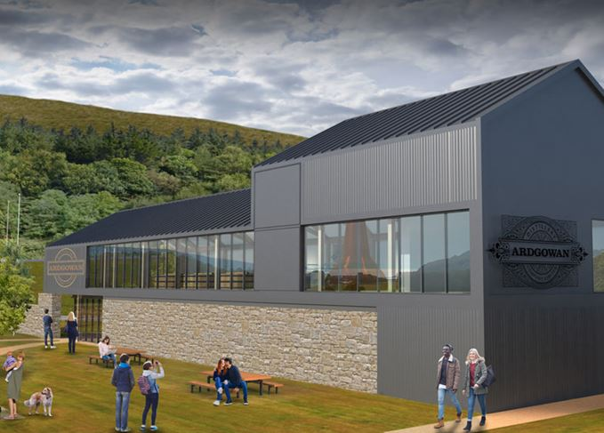 An artists' impression of Ardgowan distillery in Inverkip