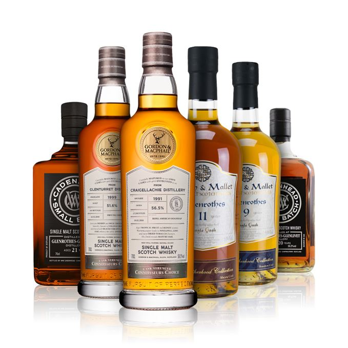 Whisky reviews of Craigellachie and Glenturret by Gordon & MacPhail, Glenrothes from Valinch & Mallet and Cadenhead.