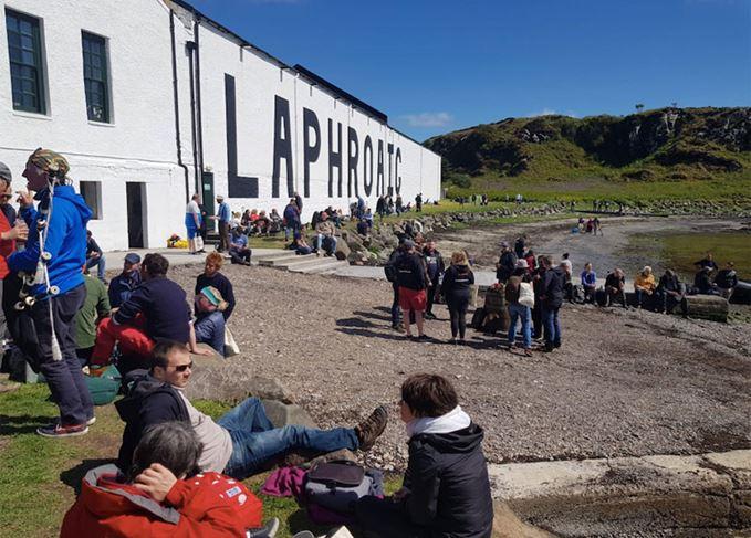 Laphroaig distillery during Fèis Ìle