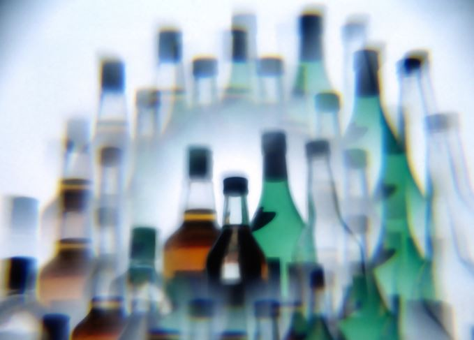 Blurred bottles