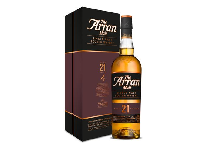 Arran 21-year-old whisky with presentation box